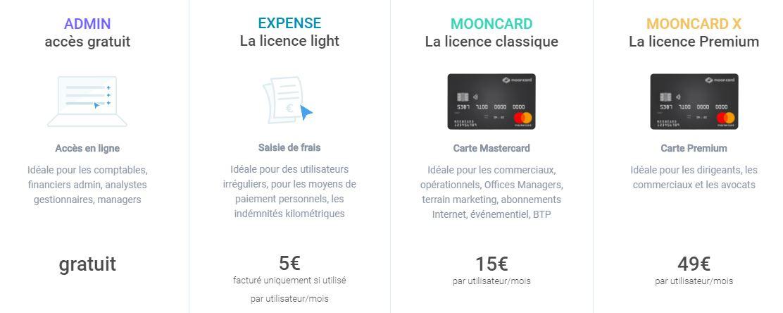 mooncard tarifs