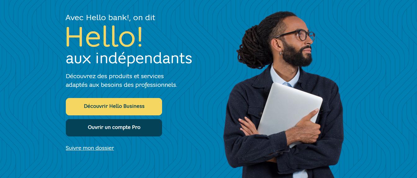 ouvrir compte pro hello bank
